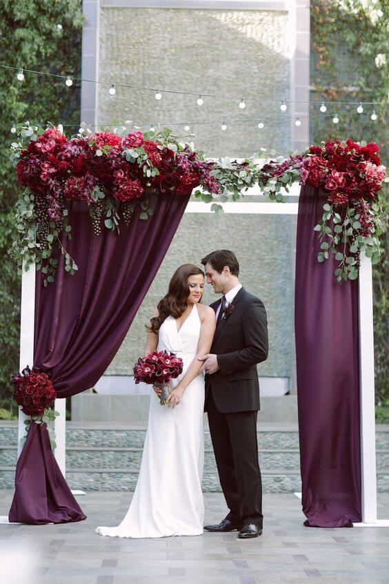 Wedding Arch for Plum Fall wedding