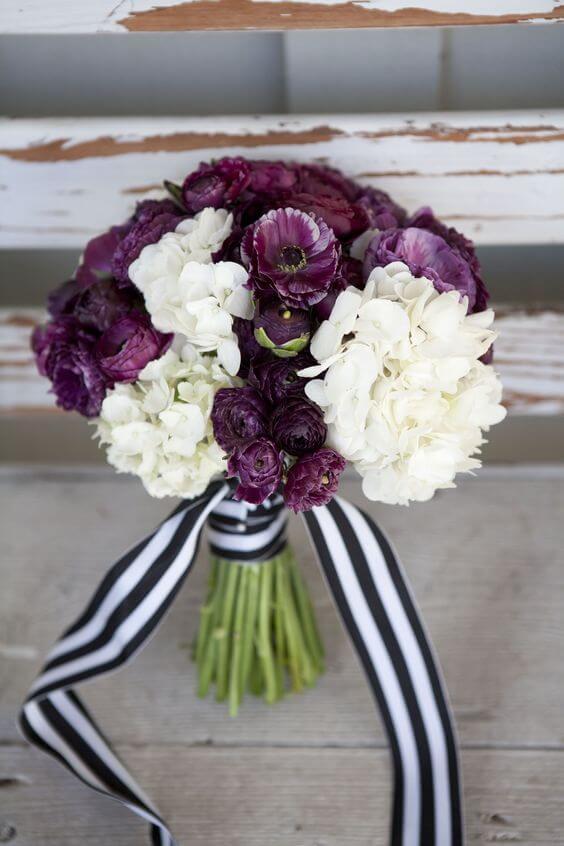 Wedding bouquets for Plum Fall wedding