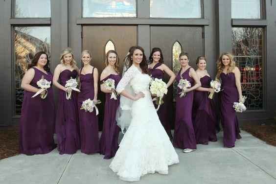 Wedding Party for Plum Fall wedding