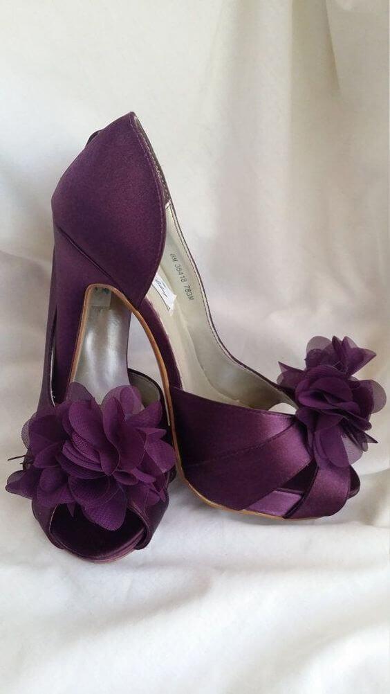 Wedding shoes for Plum Fall wedding