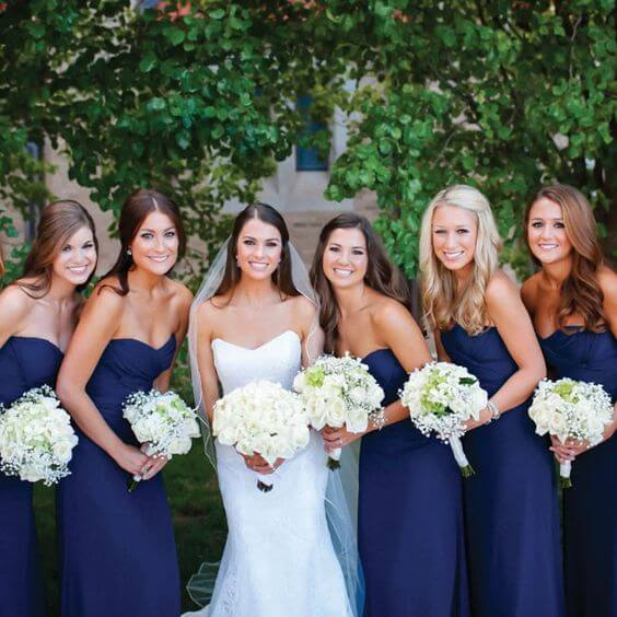 Elegant Navy Blue Fall Wedding Color Ideas
