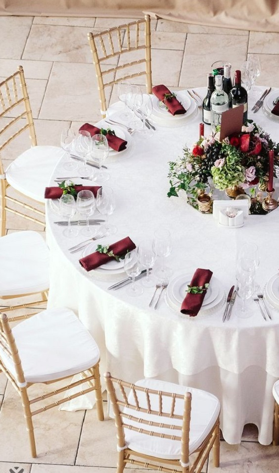 Gorgeous Burgundy And Ivory Fall Wedding Color Ideas Colorsbridesmaid