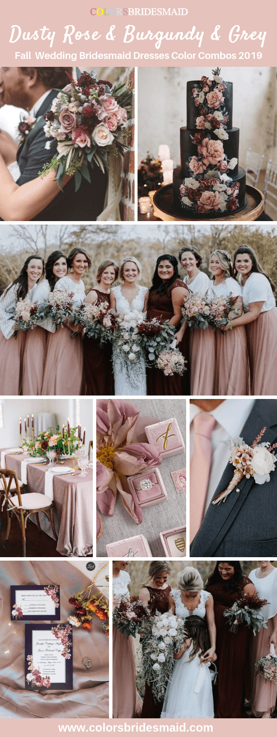 All 20+ Dusty Rose Wedding Color Palettes - ColorsBridesmaid