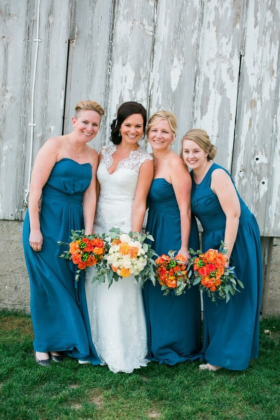 teal bridesmaid dresses for summer teal blue wedding