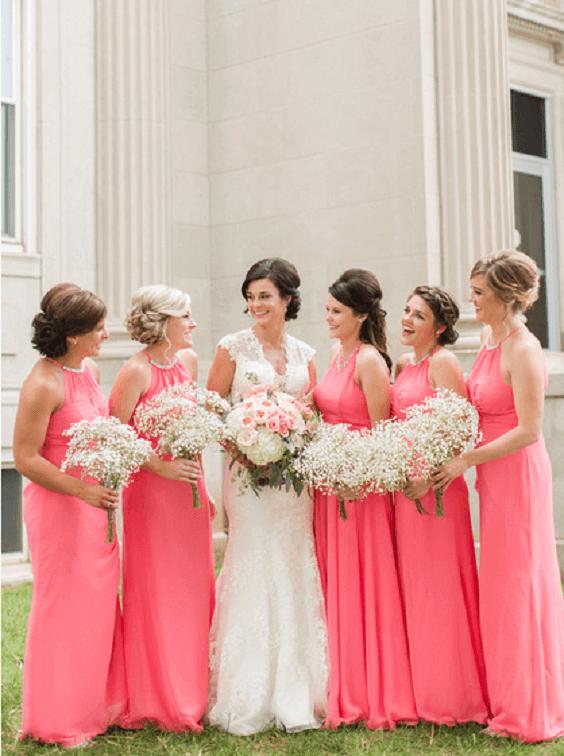 0c24b18a138e Coral and Navy Blue May Wedding: Coral bridesmaid dresses, Navy Blue ...