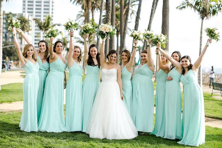 Mint Green And Peach Wedding Dress 62 Off Awi Com