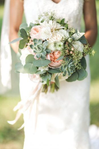 Mint Green And Peach May Wedding Mint Green Bridesmaid Dresses Peach Flower Decorations Colorsbridesmaid