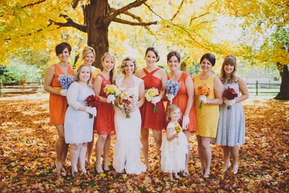tangerine and yellow bridesmaid dresses for september tangerine and yellow wedding 2019