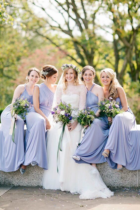 lavender bridesmaid dresses for july lavender and lemon wedding 2019