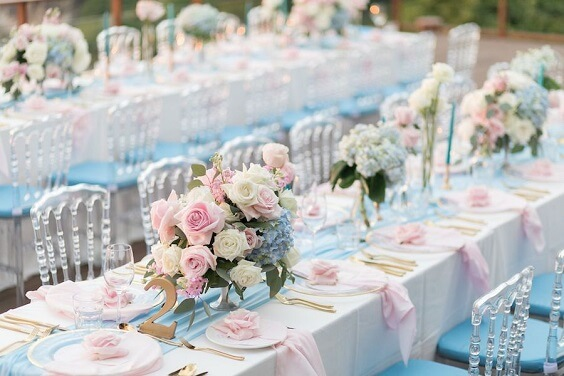 20 Fabulous Ideas for An Elegant Navy and Pink Wedding ... |Light Pink And Blue Wedding