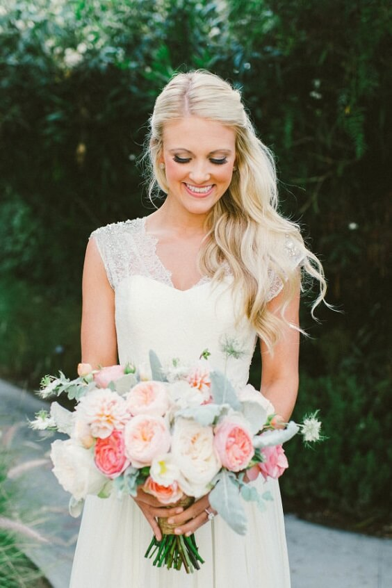 Wedding bouquets for Sage Green and Peach June Wedding