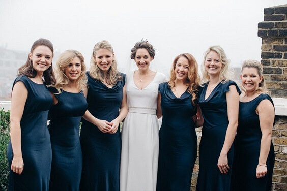 navy blue bridesmaid dresses for november navy and cream wedding 2019