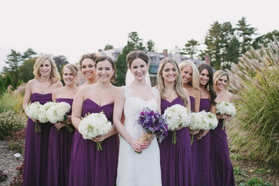 purple bridesmaid dresses for october purple and ivory wedding 2019