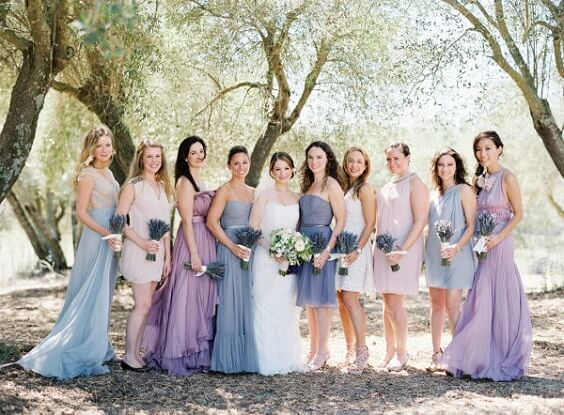 lavender and lilac bridesmaid dresses1 for spring wedding lavender and lilac 2020