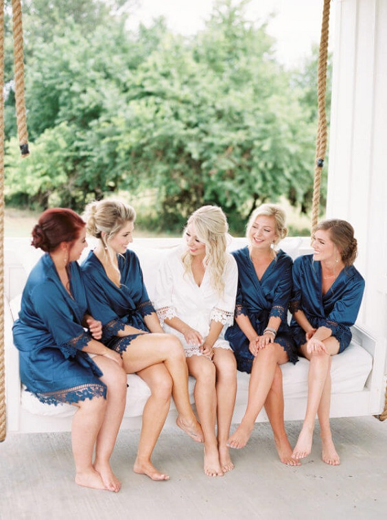 Wedding robes for Light Blue and White Summer wedding