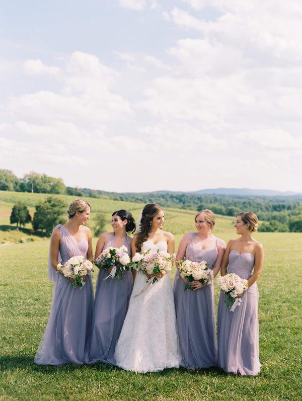 Lavender Bridesmaid dresses for lavender and light purple summer wedding