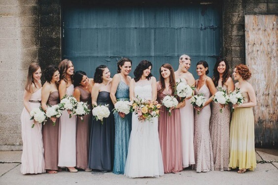 dusty rose and navy bridesmaid dresses for fall wedding dusty rose and navy 2020
