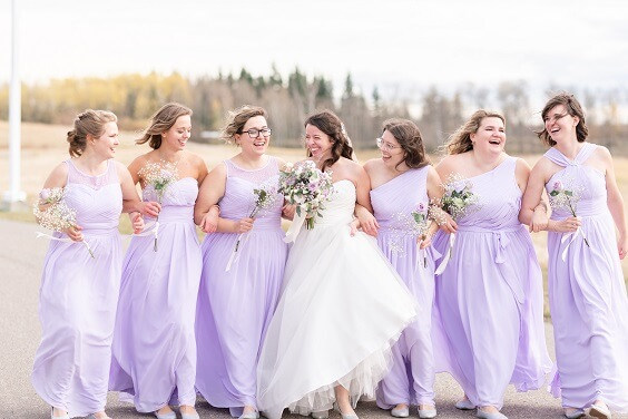 Pastel lilac bridesmaid dresses for Pastel lilac, lavender and grey September wedding 2020
