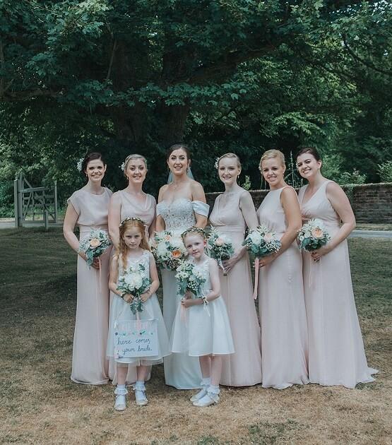 Blush bridesmaid dresses for Blush, Peach and Navy Blue September Wedding 2020
