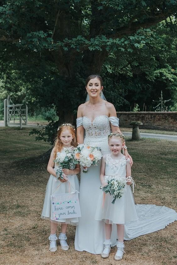 Flower girl dresses for Blush, Peach and Navy Blue September Wedding 2020