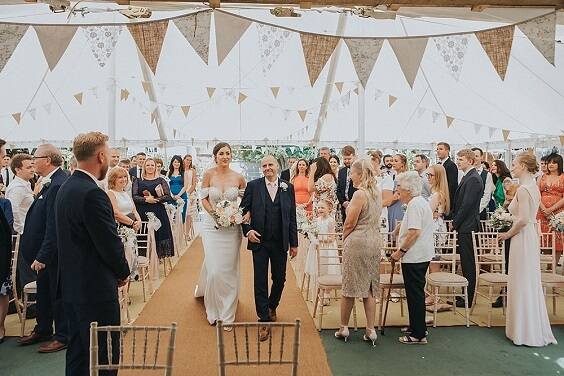 Wedding ceremony decorations for Blush, Peach and Navy Blue September Wedding 2020
