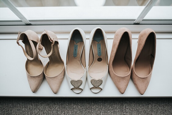 Wedding ceremony shoes for Blush, Peach and Navy Blue September Wedding 2020