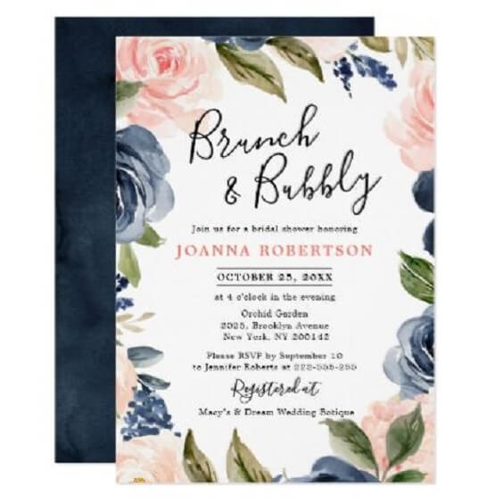 Wedding invitations for Navy Blue, Berry and Grey October Wedding 2020