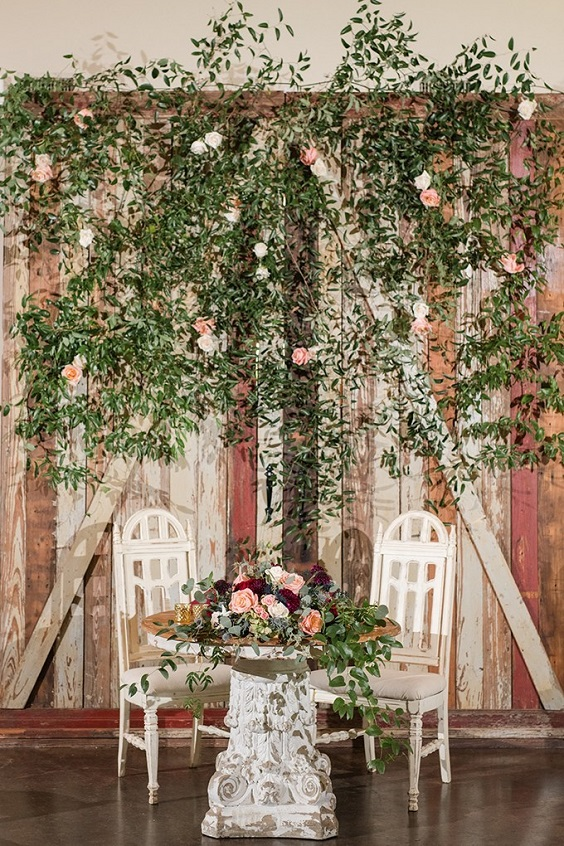 Wedding decorations for Burgundy, Peach and Navy Blue October Wedding 2020
