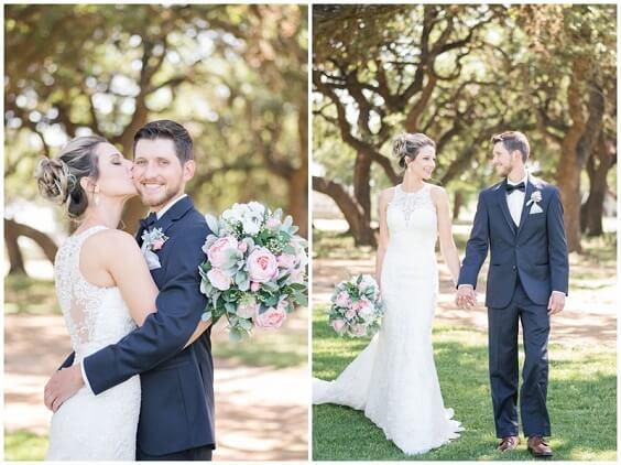 Deep blue groom suit for Light Blue, Blush and Deep Blue July Wedding 2020