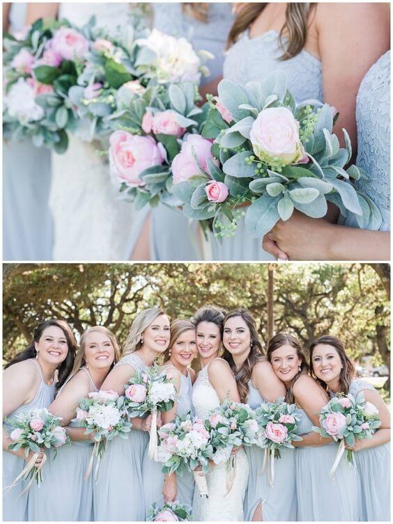 Light Blue Bridesmaid Dresses for Light Blue, Blush and Deep Blue July Wedding 2020