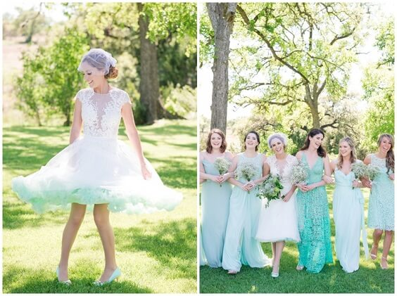 Mint Green Bridesmaid Dresses for Mint Green, White and Khaki July Wedding 2020