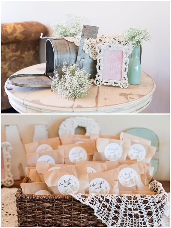 Wedding gifts for Mint Green, White and Khaki July Wedding 2020