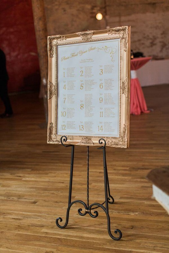 Wedding welcome board wearing for Coral, Gold and Navy Blue July Wedding 2020