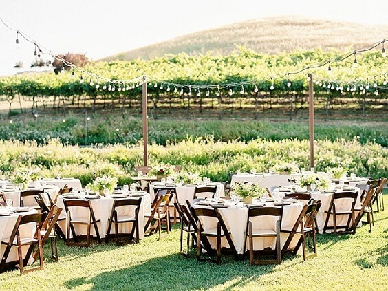 Wedding reception decorations for Blush, Berry and Navy Blue July Wedding 2020