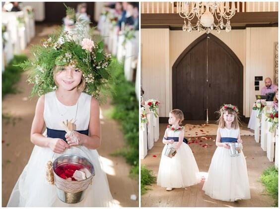 Flower girl dresses for Dark Blue, Burgundy and Purple December Wedding 2020