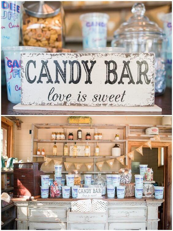 Wedding candy bar for Dark Blue, Burgundy and Purple December Wedding 2020
