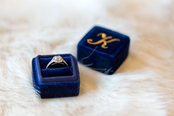 Wedding rings for Dark Blue, Burgundy and Purple December Wedding 2020