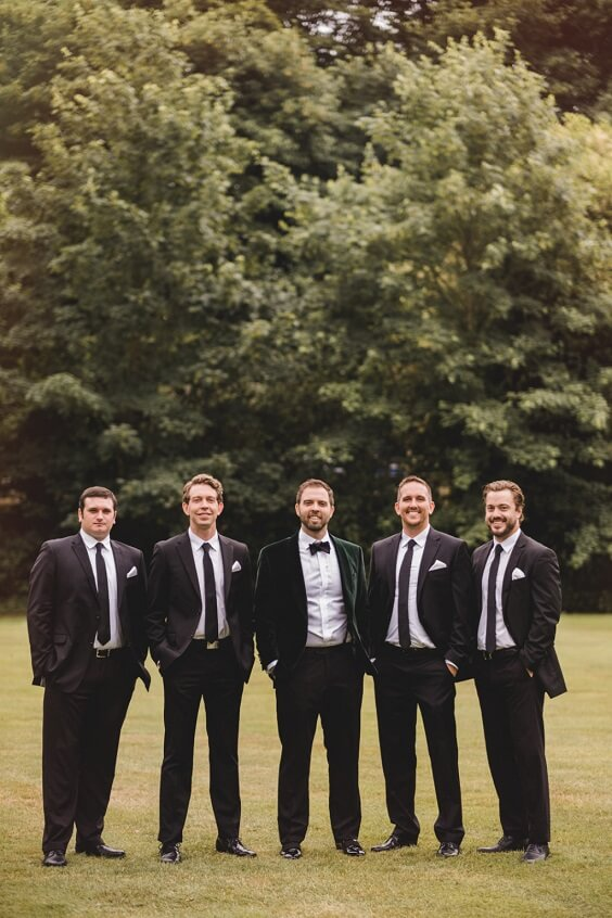 Men Suits for Emerald Green, Pink and Gold December Wedding 2020