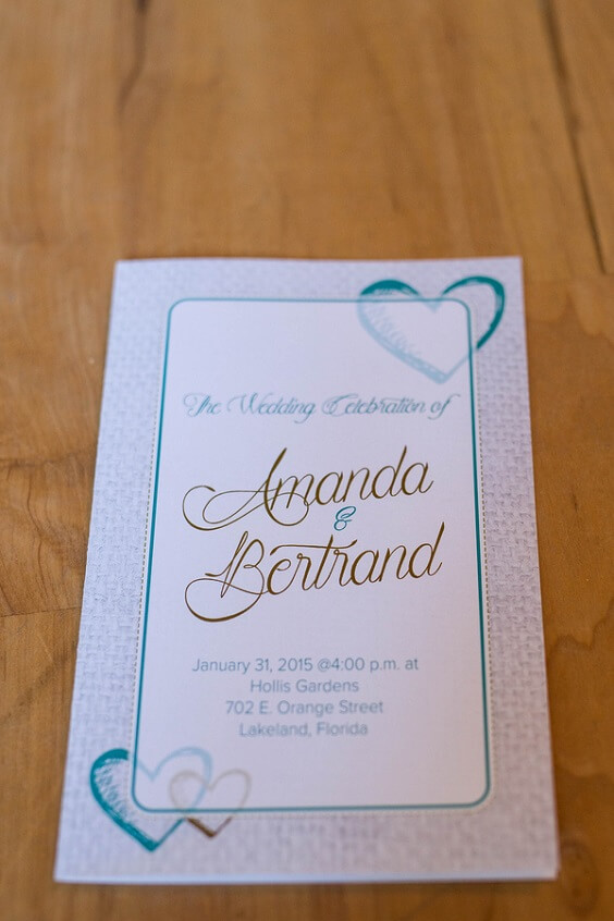 Wedding Cards for Turquoise, White and Grey December Wedding 2020