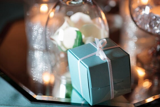Wedding favours for Turquoise, White and Grey December Wedding 2020