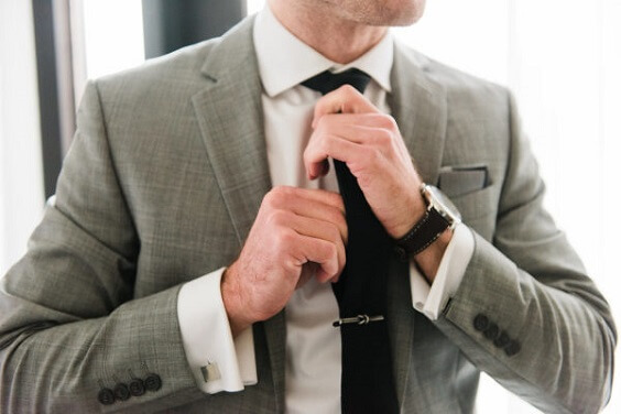 Grey Suit for Black, White and Grey December Wedding 2020