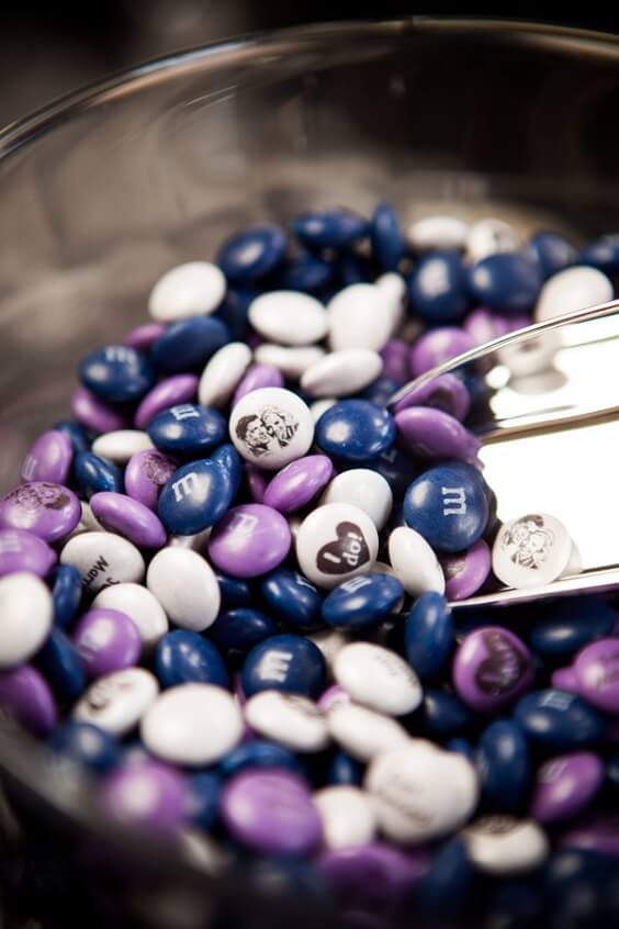 Candy for French Blue, Purple and Dark Blue December Wedding 2020