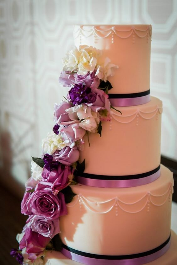 Wedding cake for French Blue, Purple and Dark Blue December Wedding 2020