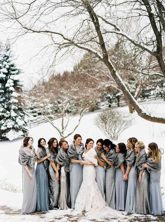 grey and dusty blue bridesmaid dresses for january wedding colors 2022 grey and dusty blue