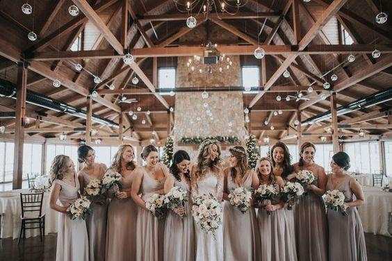 mixmatch bridesmaid dresses for january wedding colors 2022 neutral colors