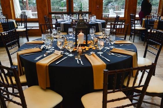 tangerine wedding table runner for february wedding colors 2022 black tangerine and brown colors