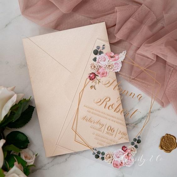 blush wedding invitation for march wedding colors 2022 blush