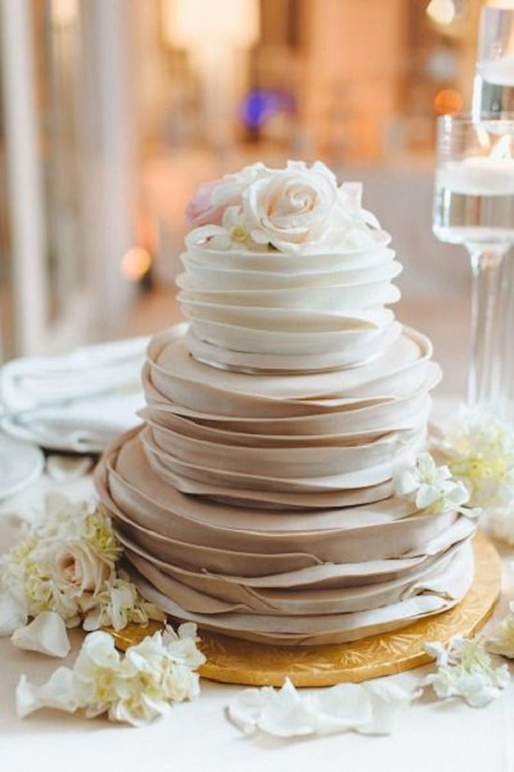 champagne and white wedding cake for march wedding colors 2022 champagne