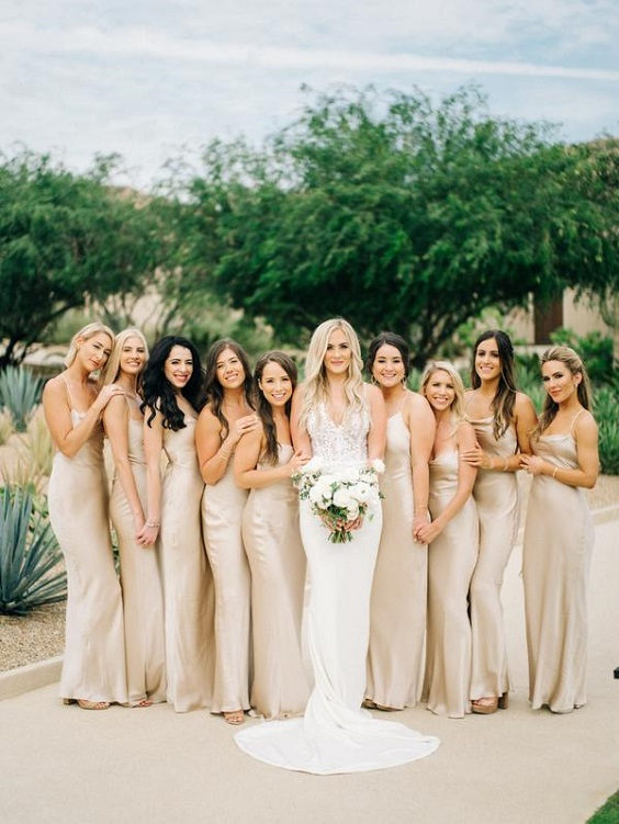 champagne bridesmaid dresses for march wedding colors 2022 champagne