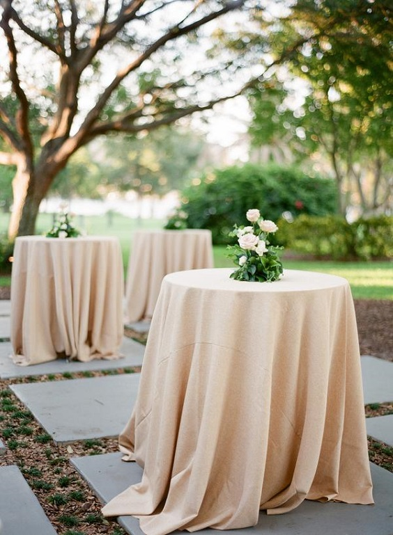 champagne tablecloth for march wedding colors 2022 champagne